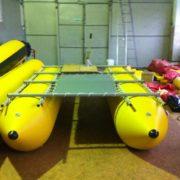 Поплавки цельноклеенные для надувных Плотов для перевозки грузов, техники, автотранспорта, людей