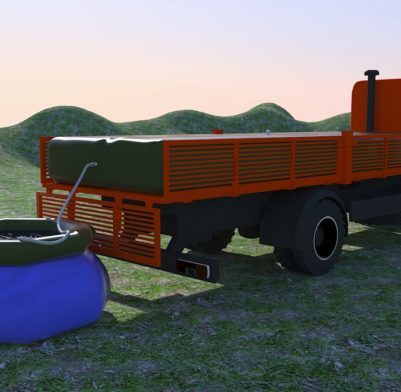 Резервуар для воды на автомобиле 03